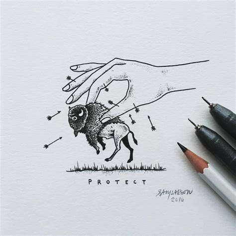 Hand-Drawn Nature-Themed Illustrations by Sam Larson