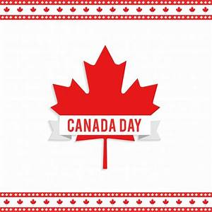 Canada day design with maple leaf Vector | Free Download