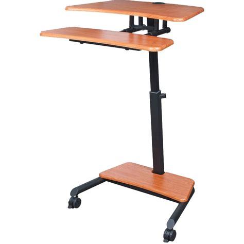 mobile sit stand desk balt up rite mobile workstation with adjustable sit stand