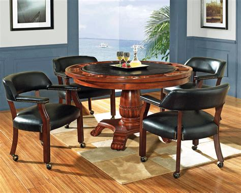 round poker table with dining round game table set poker table efurniture mart