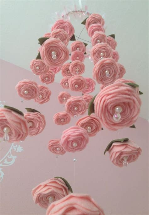 picture of diy floral mobile felt rose baby mobile happenings baby mobiles and flower