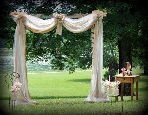draped wedding arbor arbor built from pallets draped