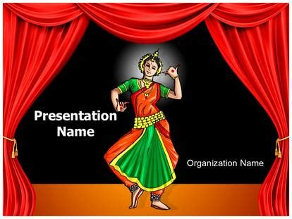 odissi indian classical dancer powerpoint template