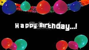 Happy Birthday - Colorful Balloons - Video Animation ...  Happy