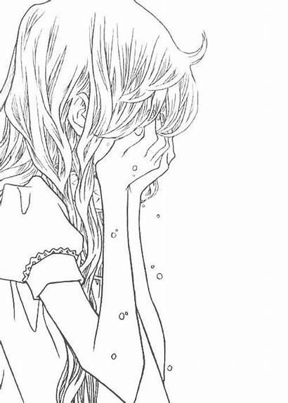 Anime Sad Manga Crying Drawing Pain Triste