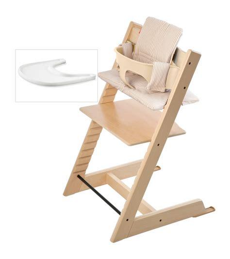 chaise haute tripp trapp stokke stokke tripp trapp bundle beige stripe
