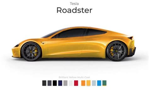 tesla roadster paint colors imagined   interactive