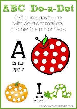 alphabet   dot marker printables   dot alphabet