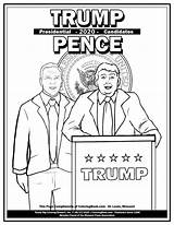 Coloring Presidential Candidate Trump President Pence Biden Harris Complimentary sketch template