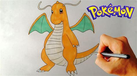 draw dragonite pokemon step  step drawing