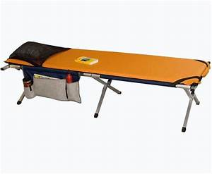 Lit De Camp : lit de camp alu 200x81cm euphrat ii avec poches de rangements ~ Teatrodelosmanantiales.com Idées de Décoration