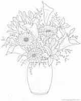 Coloring Bouquets Flower Pages Fun Boeketten Bouquet Kleurplaten Flowers Printable Drawings Kleurplaat Van Popular Visit Tekening Drawing Coloringhome Afkomstig sketch template