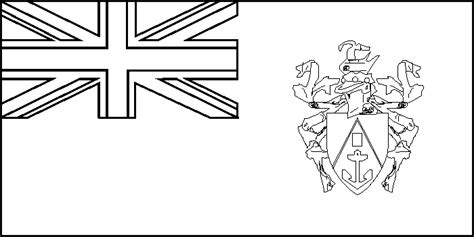 Pitcairn Island Flag Coloring Picture