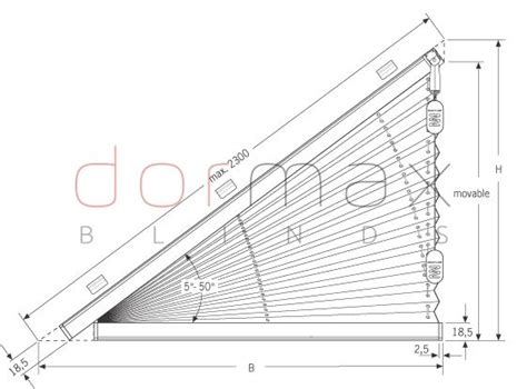 hanging triangle shaped pleated blind typ fds