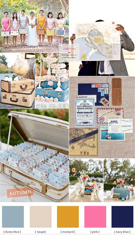 vintage travel themed wedding travel inspired wedding