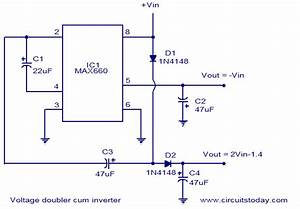 Voltage Doubler And Inverter Circuit Diagram With Schematic
