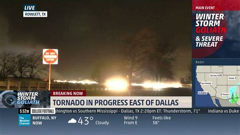 Rowlett, TX Tornado Live on The Weather Channel 12-26-15 ...