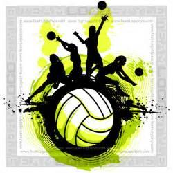 Volleyball Team Clip Art Designs
