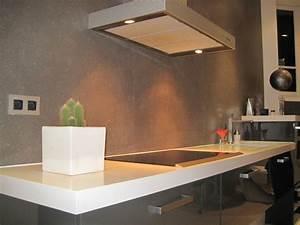 Plan De Travail Céramique : cuisine crdence moderne fonce en cramique ~ Dailycaller-alerts.com Idées de Décoration