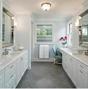 Gray Slate Bathroom Floor Tile by Pink And Gold Girl Bathroom Design Contemporary Bathroom