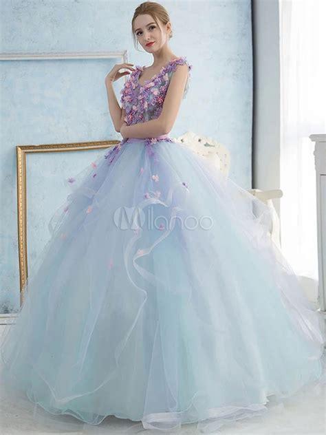 pastel blue quinceanera dress tulle princess pageant dress