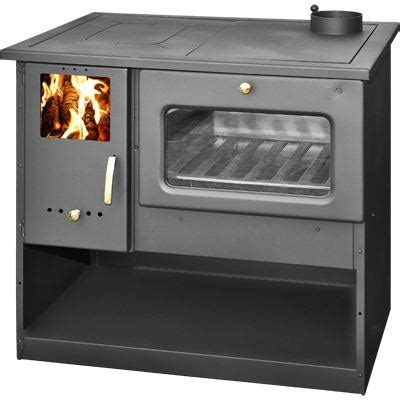 fourneau cuisine cuisinière à bois fourneau metal feu 9kw achat