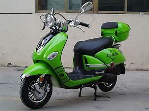 200cc Gas Moped Scooter Vestalian Vespa Style Green  Cvt