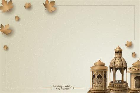 islamic greeting ramadan kareem background premium vector