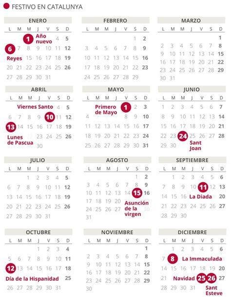 calendario laboral de catalunya del todos los