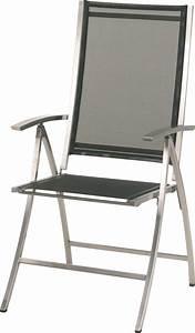 Chaise Pliante De Jardin : chaise de jardin pliante plaza en inox bross couleur noir ~ Teatrodelosmanantiales.com Idées de Décoration