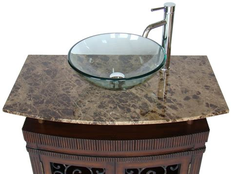 wall vanity cabinet adelina 36 inch vessel sink bathroom vanity medium brown