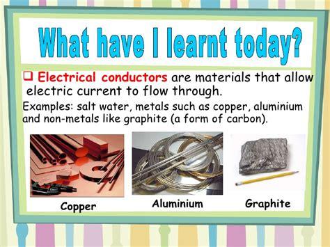 electrical conductors  insulators