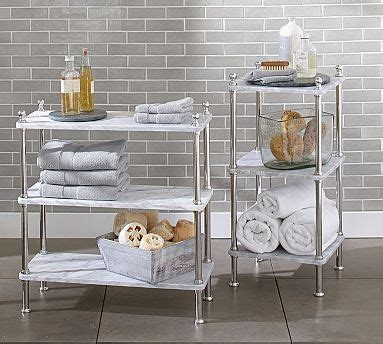 Bathroom Etageres by Marble Etagere Potterybarn Decorating Guest Bath