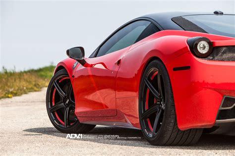 ferrari 458 wheels rosso corsa ferrari 458 adv5 m v1 sl series wheels adv