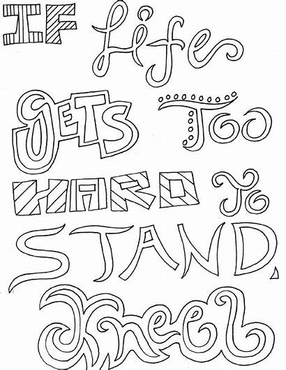 Coloring Inspirational Pages Quotes Adults