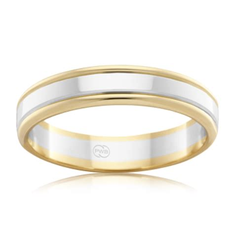 2 tone wedding ring at rash co jewellers