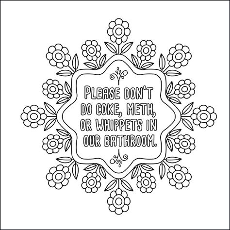 printable coloring pages  adults  swear words