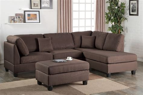 reversible sectional sofa chaise chocolate fabric reversible chaise sectional sofa ottoman