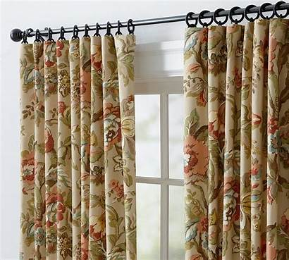Pottery Barn Curtains Drapes Vanessa Neutral Floral