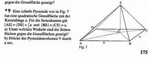 Höhe Von Pyramide Berechnen : zahlreich mathematik hausaufgabenhilfe schiefe pyramide ~ Themetempest.com Abrechnung