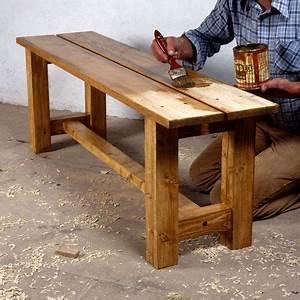 comment fabriquer un banc en bois massif bancs en bois With comment fabriquer un banc de jardin