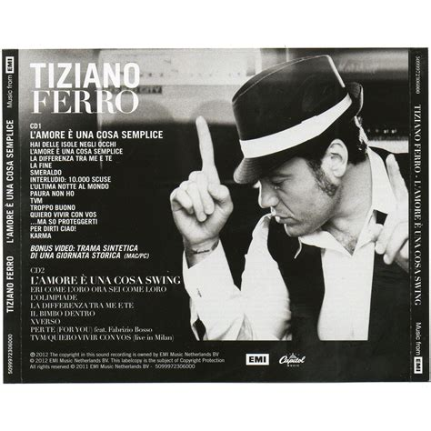 L è Una Cosa Swing by L E Una Cosa Swing Cd2 Tiziano Ferro Mp3 Buy