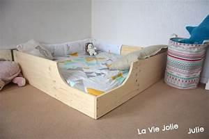 Lit Cabane Au Sol : lit au sol pour b b 2 nouvelle version montessori ~ Premium-room.com Idées de Décoration