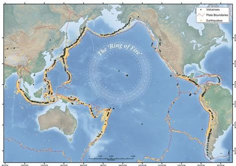 active volcanoes   asia pacific ring  fire