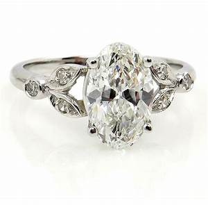 vintage 2ct oval cut diamond engagement wedding ring in With oval cut wedding rings