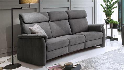 Sofa 3600 3-sitzer Stoff Grau Mit Federkern Und