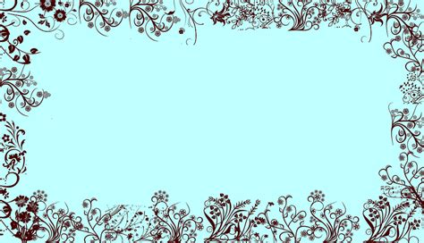 Border Wallpaper Desktop by Blue W Brown Floral Border Wallpaper Background