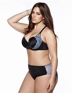 ashley graham lingerie | Lace back briefs in Black / Light ...