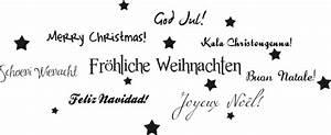 Weihnachtsmotive Schwarz Weiß : fr hliche weihnachten wandtattoo ~ Buech-reservation.com Haus und Dekorationen
