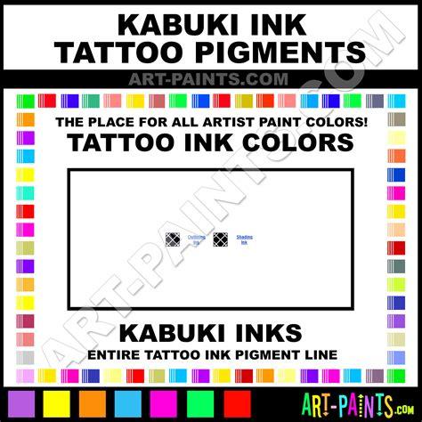 kabuki ink ink pigment paint colors kabuki ink